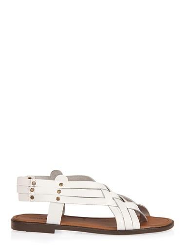 Uniquer Sandalet Beyaz
